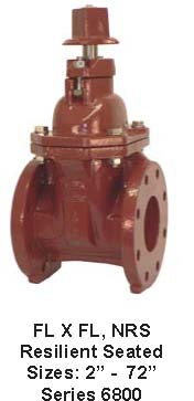 AWWA Resilient Seated Gate Valves: JandS Valve Flange by Flange, NRS, Series 6800