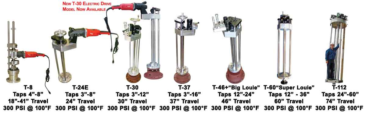 Big Hot Tap Machines Ranging 3 inch - 60 inch Taps