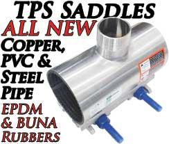 TPS Copper Saddles for Copper Steel PVC OD Pipe