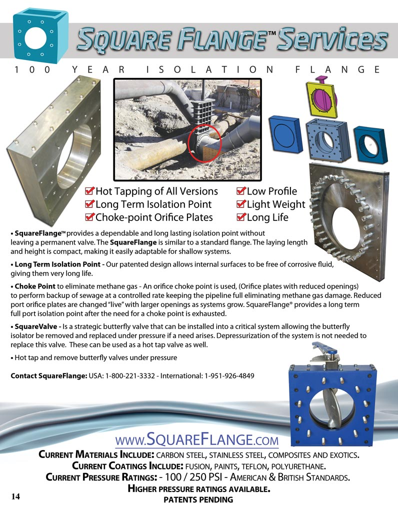 Square Flange Tapping Valve Info Sheet