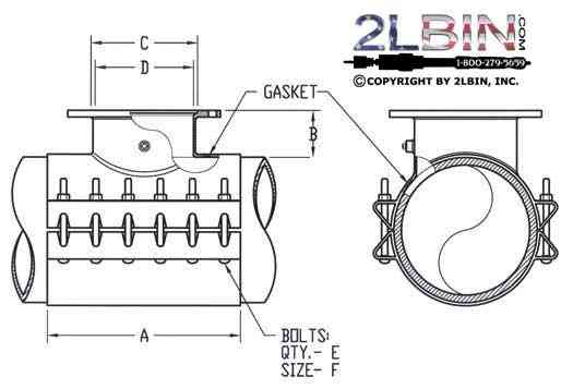 """ 412 Fabricated Steel Tapping Sleeve"