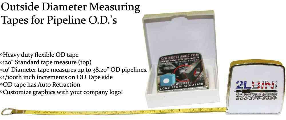 Custom OD Tapes Outside Diameter Tapes for Pipeline